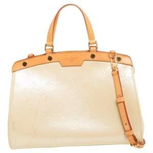 Louis Vuitton Blanc Corail Monogram Vernis Brea MM Bag