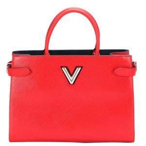 Louis Vuitton Red Epi Leather Twist Tote Bag