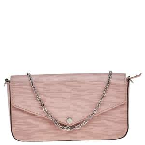Louis Vuitton Rose Ballerine Epi Leather Pochette Felicie Bag