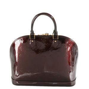 Louis Vuitton Brown Monogram Vernis Alma GM Bag