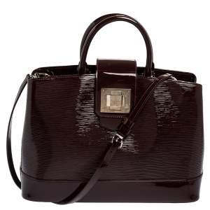 Louis Vuitton Amarante Electric Epi Leather Mirabeau GM Bag