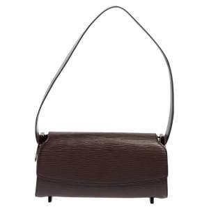 Louis Vuitton Moka Epi Leather Nocturne PM Bag