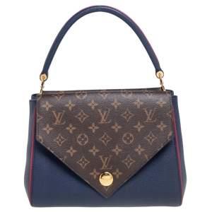 Louis Vuitton Blue Marine Monogram Canvas and Leather Double V Bag