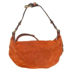 Louis Vuitton Orange Monogram Suede Limited Edition Onatah PM Bag