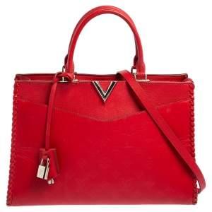 Louis Vuitton Rubis Monogram Cuir Plume Very Zipped Bag