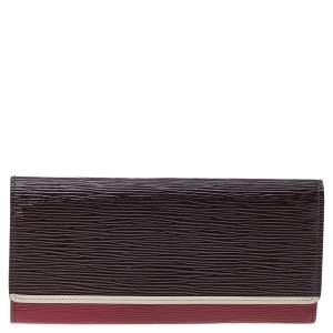 Louis Vuitton Prune Electric Epi Leather Flore Wallet