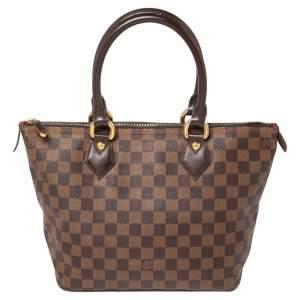 Louis Vuitton Damier Ebene Canvas Saleya PM Bag