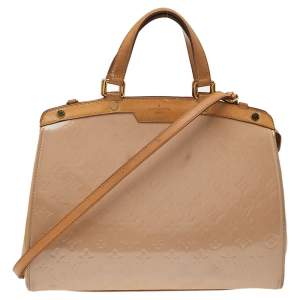 Louis Vuitton Rose Florentine Monogram Vernis Brea GM Bag