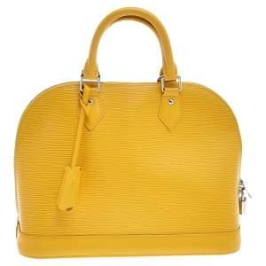 Louis Vuitton Tassil Yellow Epi Leather Alma PM Bag