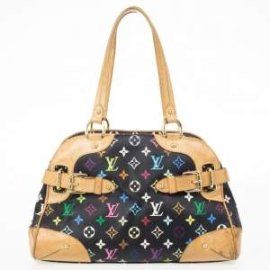 Louis Vuitton Multicolor Black Claudia Satchel