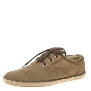 حذاء رياضي لوي فيتون اسباريلز دامييه صغيرة سويدي أخضر مقاس 38