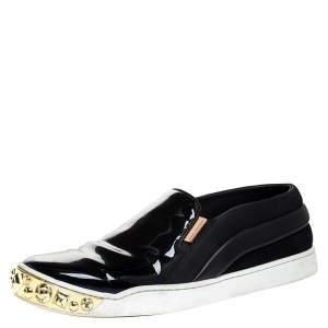 """حذاء رياضي لوي فيتون """"تيمبو"""" بطراز سليب أون و مرصع ذهبي جلد و جلد لامع أسود ذهبي مقاس 38.5"""
