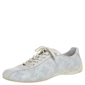 Louis Vuitton White Mahina Leather Low Top Sneakers Size 40.5