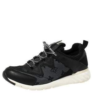 Louis Vuitton Black Monogram Mesh and Leather Aftergame Sneakers Size 37