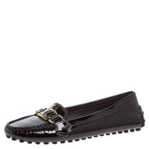 Louis Vuitton Amarante Patent Leather Oxford  Loafers Size 37