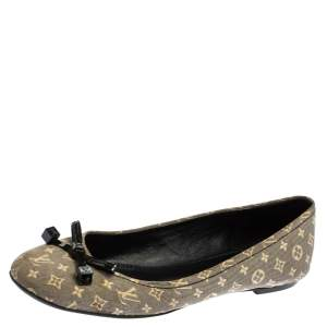 Louis Vuitton Grey Monogram Canvas Idylle Debbie Ballet Flats Size 37.5