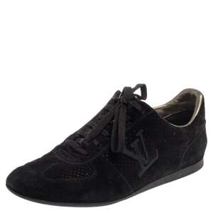 Louis Vuitton Black Suede Vibes Sneakers Size 37