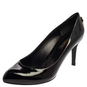 """حذاء كعب عالي لوي فيتون """"أوه ريلي"""" جلد أسود لامع مقاس 36"""
