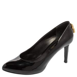 Louis Vuitton Black Patent Leather Oh Really! Pointed Toe Pumps Size 36