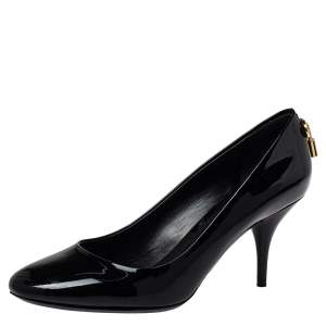 Louis Vuitton Black Patent Leather Oh Really! Pumps Size 39