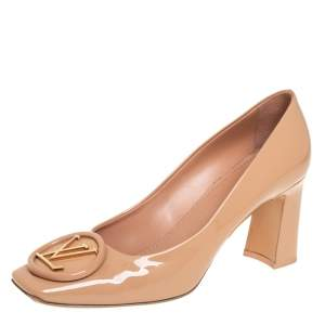 Louis Vuitton Beige Patent Leather Madeleine Pumps Size 41