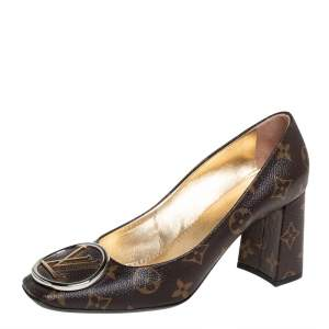 Louis Vuitton Brown Monogram Canvas Madeleine Pumps Size 37.5