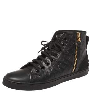 Louis Vuitton Black  Monogram Empreinte Leather Punchy High Top Sneaker Size 38.5