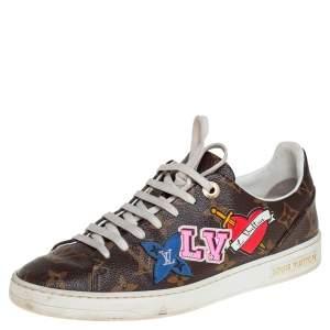Louis Vuitton Brown Monogram  Canvas Sneakers Size 37