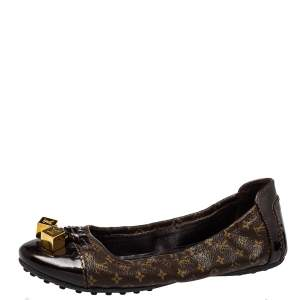 Louis Vuitton Brown Monogram Canvas Lovely Ballet Flats Size 35.5