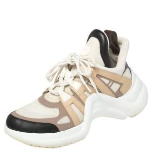 حذاء رياضي لوي فيتون آركلايت شبك وجلد متعدد الألوان مقاس 42