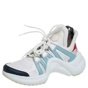حذاء رياضي لوي فيتون ارشليت منخض من أعلى جلد و نايلون متعدد الألوان مقاس 38