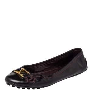 Louis Vuitton Burgundy Patent Leather  Ballet Flats Size 37.5