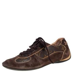 Louis Vuitton Brown Canvas, Suede Energie  Sneakers Size 35.5
