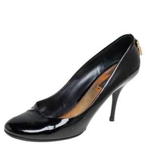 Louis Vuitton Black Patent Leather Embellished Pumps Size 39