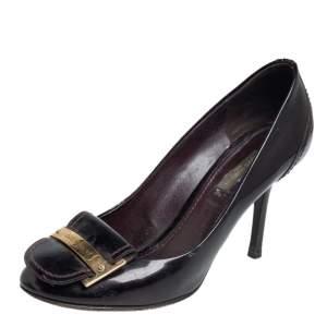 Louis Vuitton Burgundy Patent Leather Pumps Size 37
