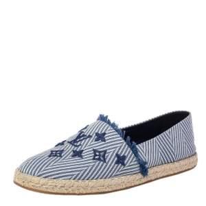 حذاء فلات لوي فيتون سيل اواي إسبادريل كانفاس أزرق مقاس 41