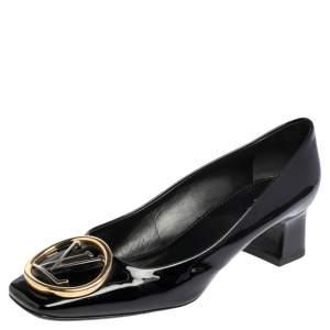 Louis Vuitton Black Patent Leather Madeleine Pumps Size 38