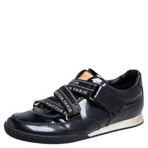 Louis Vuitton Black Patent Leather Velcro Sneakers Size 38