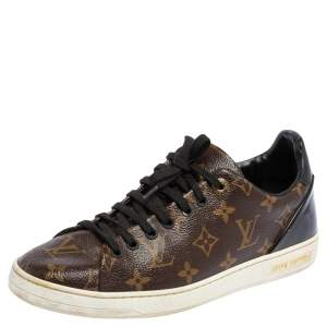 Louis Vuitton Monogram Canvas and Patent Leather Frontrow Low Top Sneakers Size 40