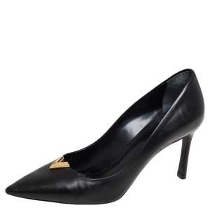 Louis Vuitton Black Leather Heartbreaker Pointed Toe Pumps Size 36