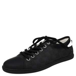 Louis Vuitton Black/White Damier Graphite Nylon And Leather Lace Up Sneaker Size 41