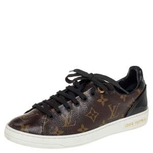 Louis Vuitton Monogram Canvas and Patent Leather Frontrow Low Top Sneakers Size 37