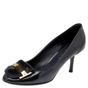 Louis Vuitton Black Patent Leather Pumps Size 36