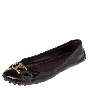 Louis Vuitton Amarante Patent Leather Ballet Flats Size 35.5
