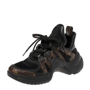 Louis Vuitton Brown Monogram Canvas And Mesh LV Archlight Sneakers Size 38
