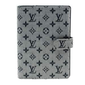 Louis Vuitton Grey Monogram Canvas Small Ring Agenda Cover