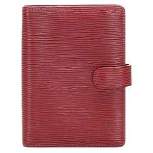 Louis Vuitton Red Epi Leather Agenda PM