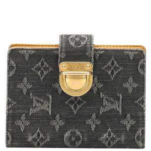 Louis Vuitton Black Monogram Denim Agenda PM Bag