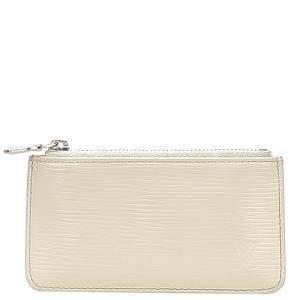 Louis Vuitton Cream Epi Leather Pochette Cles Bag