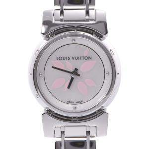 Louis Vuitton MOP Stainless Steel Tambour Bijou Petal Q1512 \Quartz Women's Wristwatch 18 MM